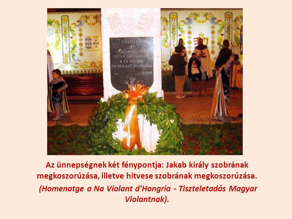 (Homenatge a Na Violant d Hongria - Tiszteletadás Magyar Violantnak).
