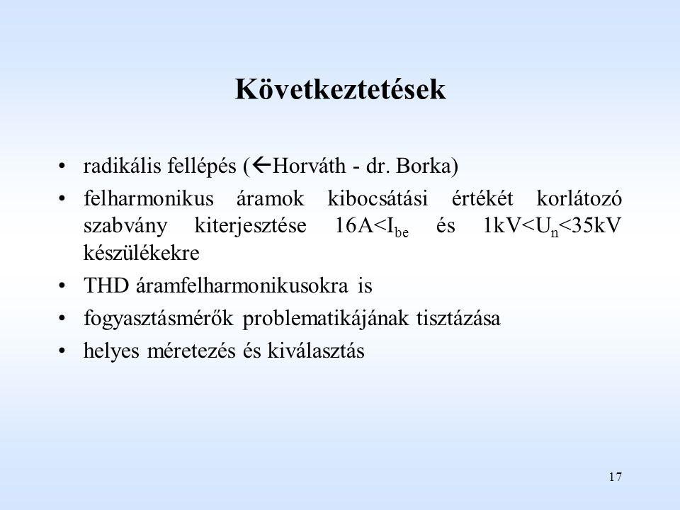 Következtetések radikális fellépés (Horváth - dr. Borka)