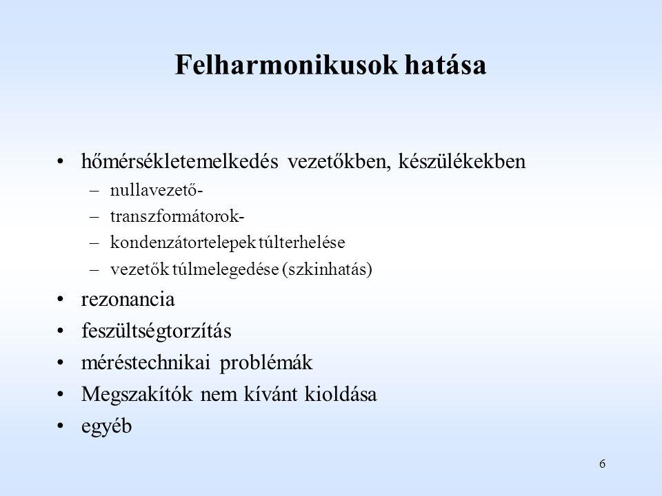 Felharmonikusok hatása