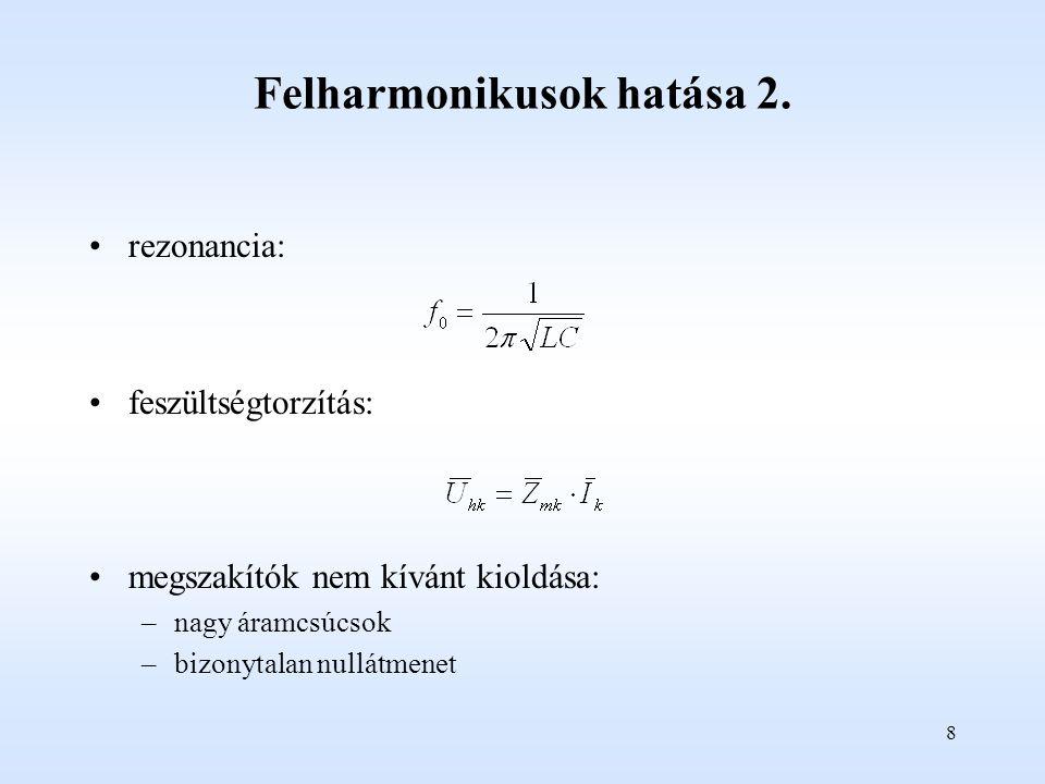 Felharmonikusok hatása 2.