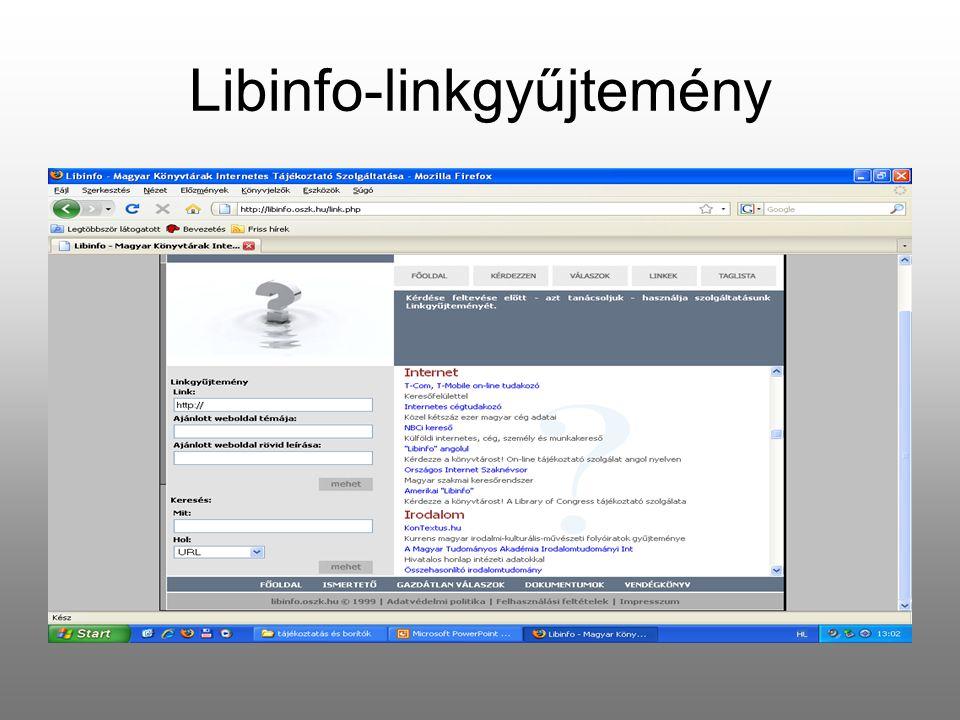 Libinfo-linkgyűjtemény