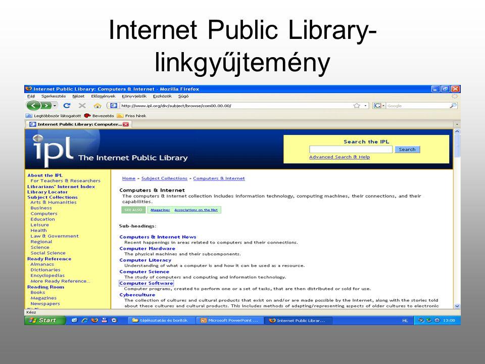 Internet Public Library-linkgyűjtemény