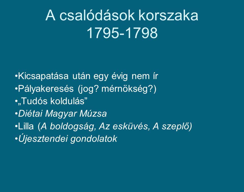 A csalódások korszaka 1795-1798