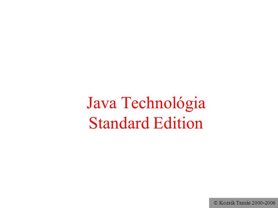 Java Technológia Standard Edition