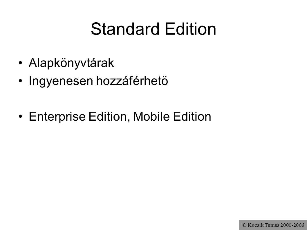 Standard Edition Alapkönyvtárak Ingyenesen hozzáférhetö