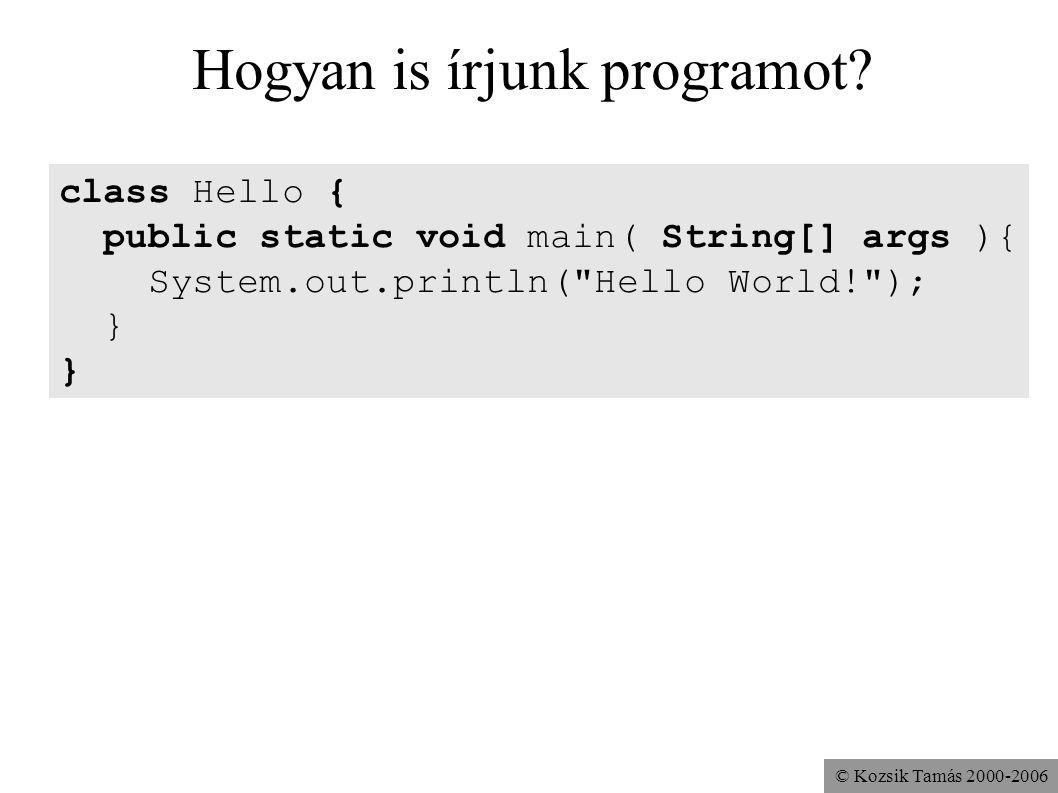 Hogyan is írjunk programot