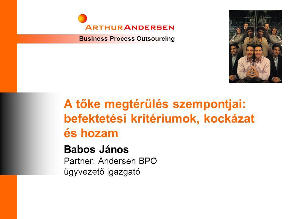 Babos János Partner, Andersen BPO ügyvezető igazgató