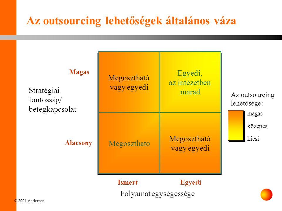 Az outsourcing lehetőségek általános váza