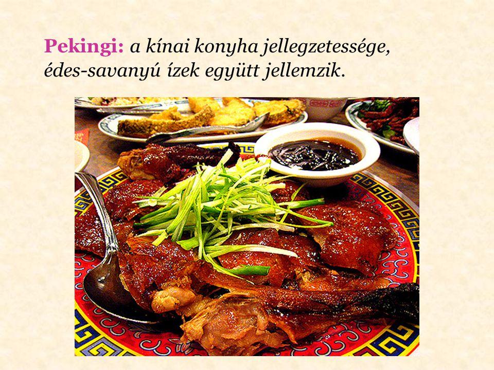 Pekingi: a kínai konyha jellegzetessége,