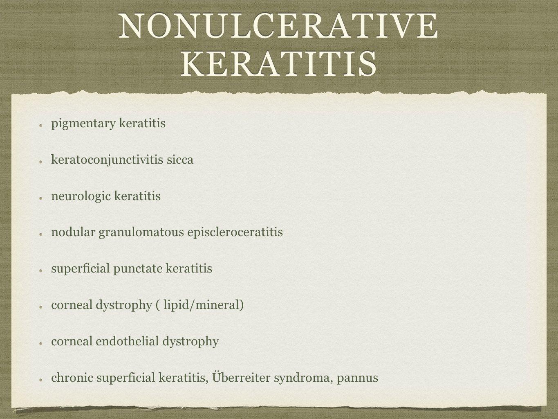 nonulcerative keratitis