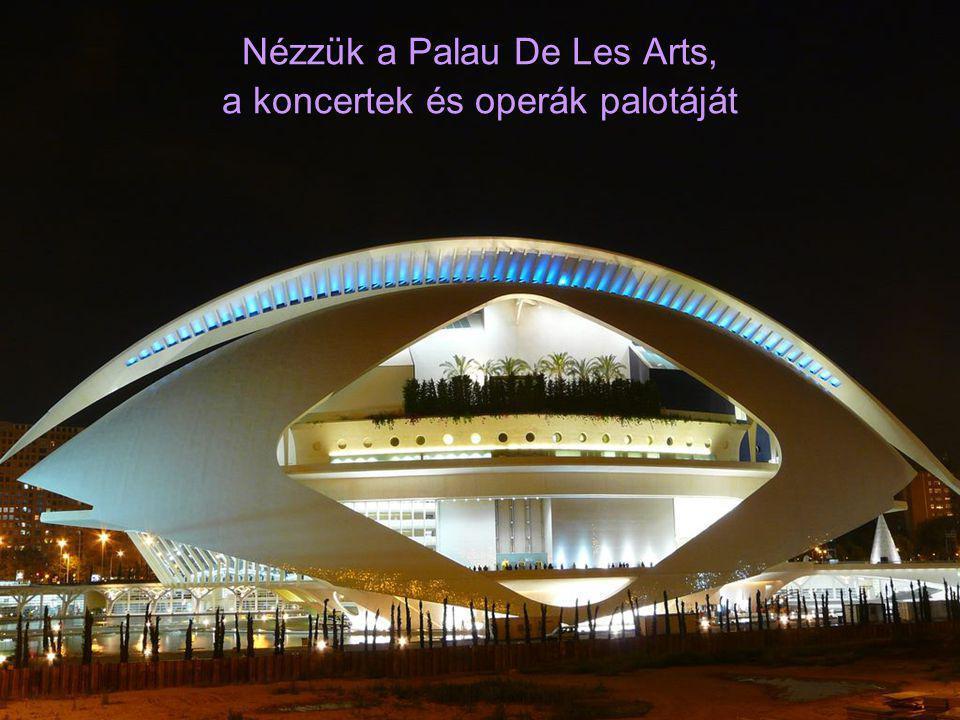 Nézzük a Palau De Les Arts, a koncertek és operák palotáját