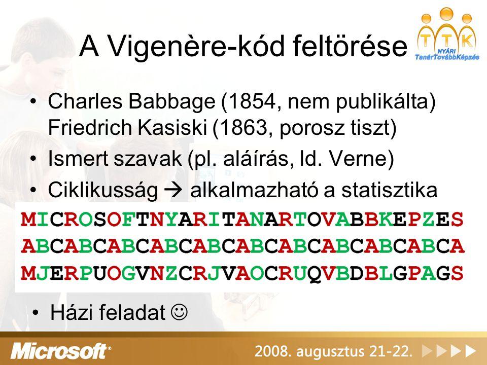 A Vigenère-kód feltörése
