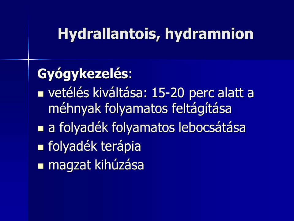 Hydrallantois, hydramnion