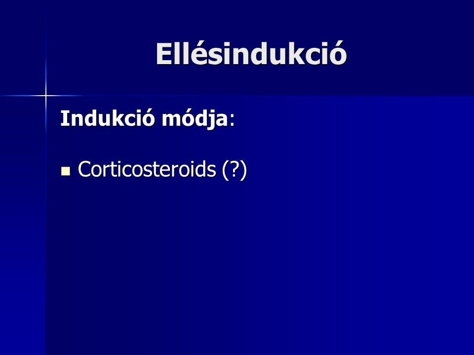 Ellésindukció Indukció módja: Corticosteroids ( )