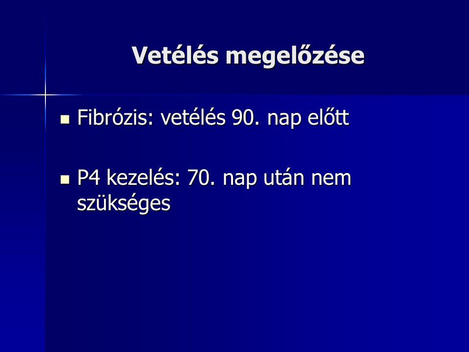 Vetélés megelőzése Fibrózis: vetélés 90. nap előtt