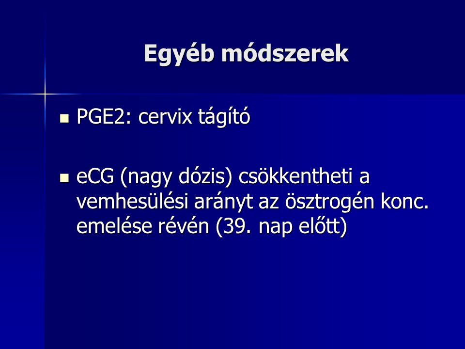 Egyéb módszerek PGE2: cervix tágító
