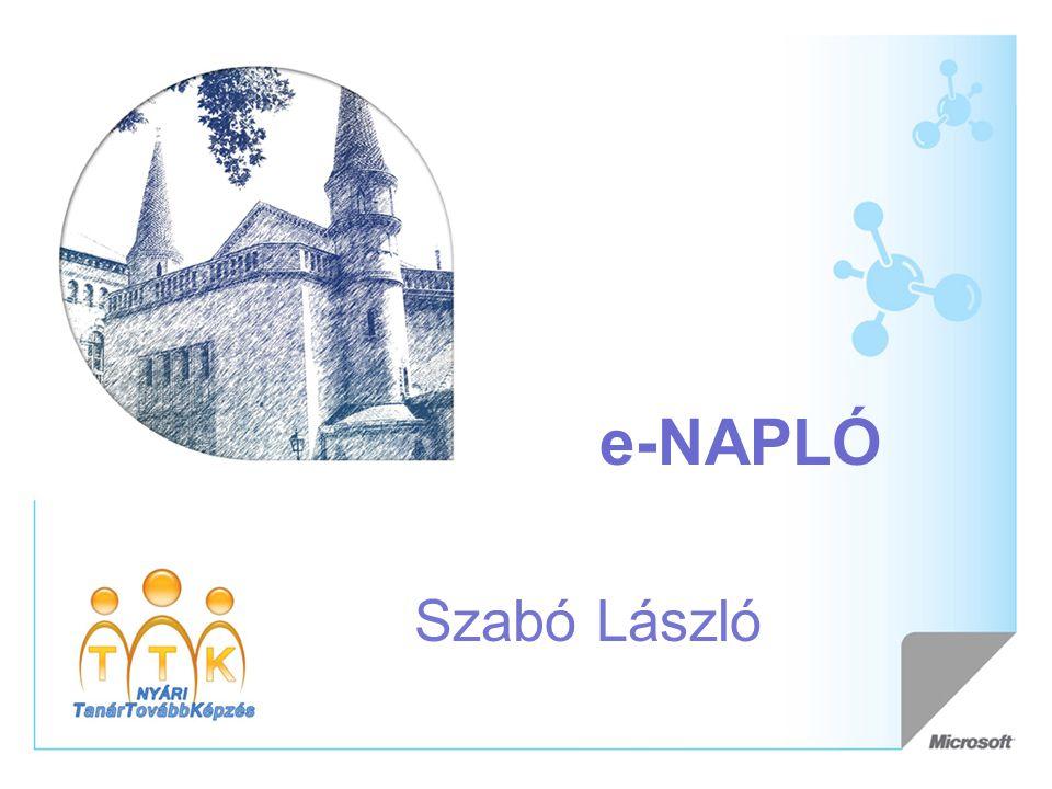 e-NAPLÓ Szabó László
