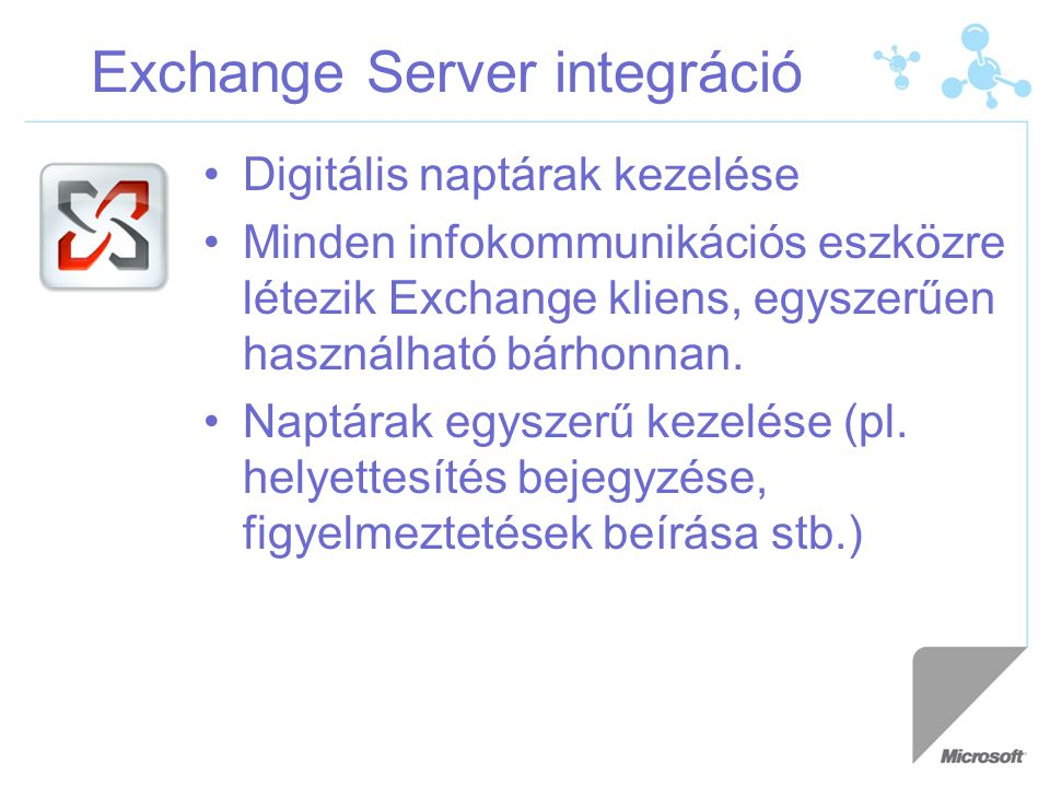 Exchange Server integráció