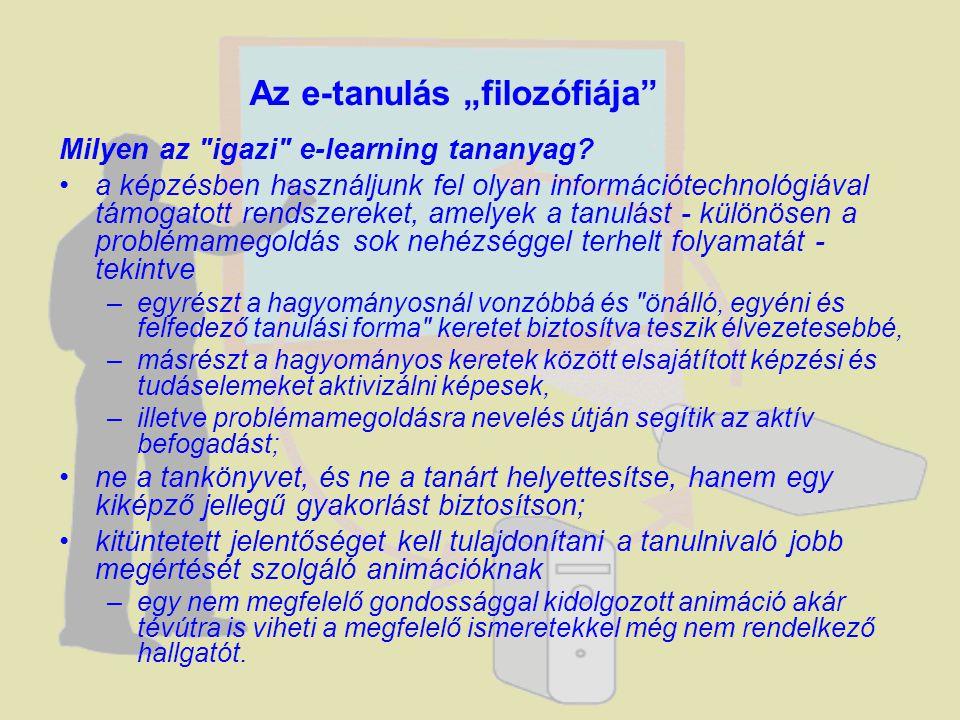 """Az e-tanulás """"filozófiája"""