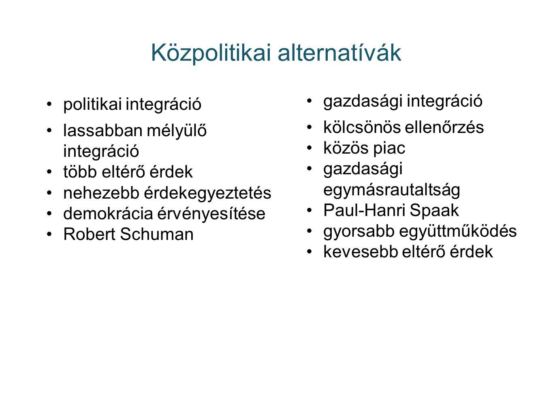 Közpolitikai alternatívák