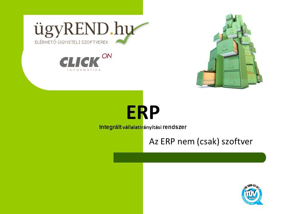 ERP Integrált vállalatirányítási rendszer