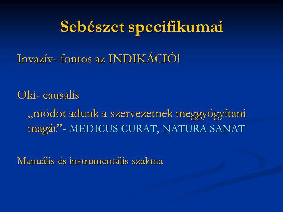 Sebészet specifikumai