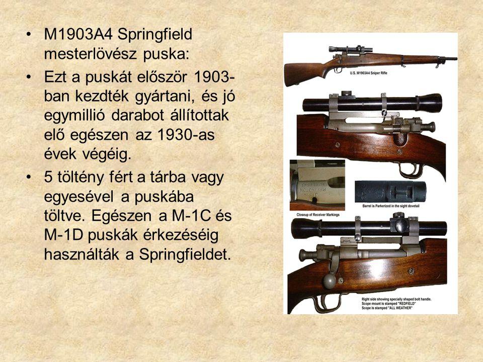 M1903A4 Springfield mesterlövész puska: