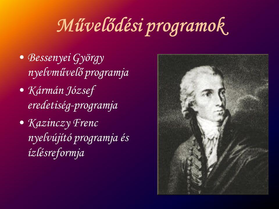 Művelődési programok Bessenyei György nyelvművelő programja