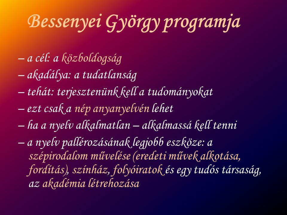 Bessenyei György programja