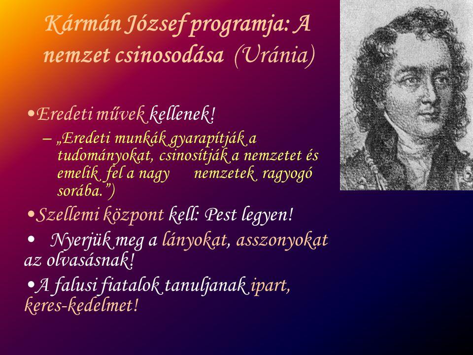 Kármán József programja: A nemzet csinosodása (Uránia)