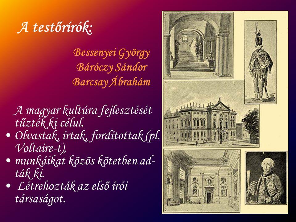 A testőrírók: A magyar kultúra fejlesztését tűzték ki célul.