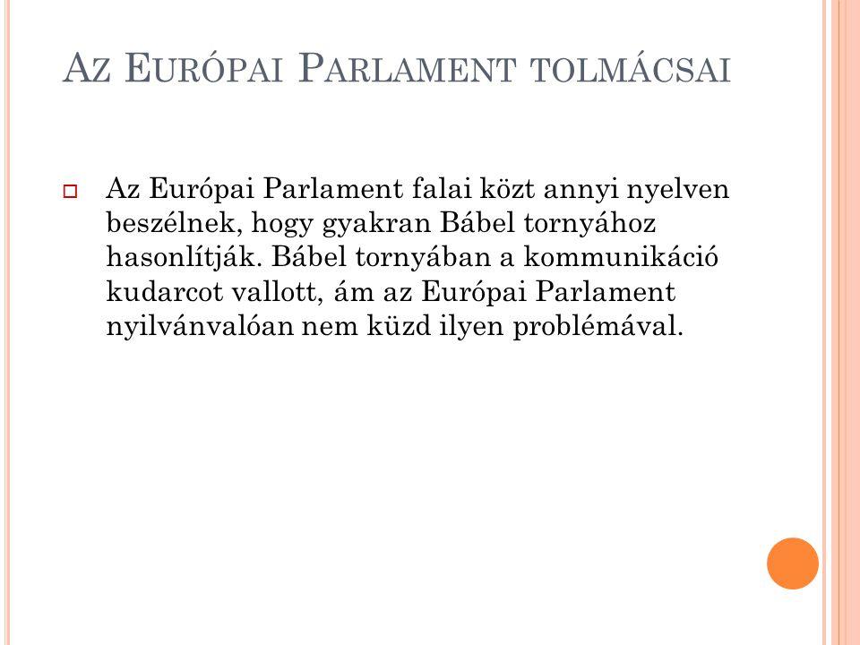 Az Európai Parlament tolmácsai