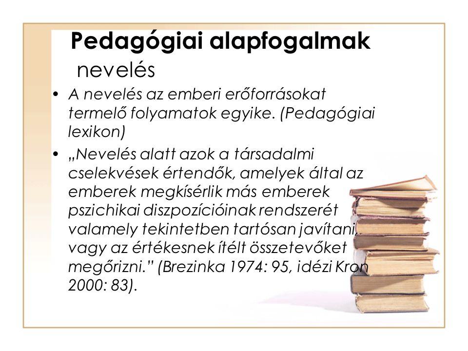 Pedagógiai alapfogalmak nevelés