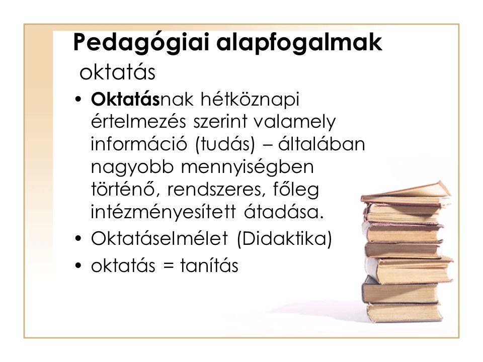 Pedagógiai alapfogalmak oktatás