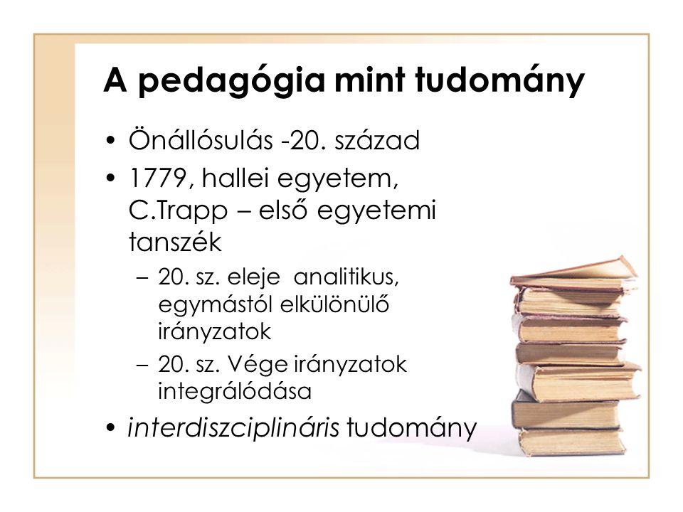 A pedagógia mint tudomány