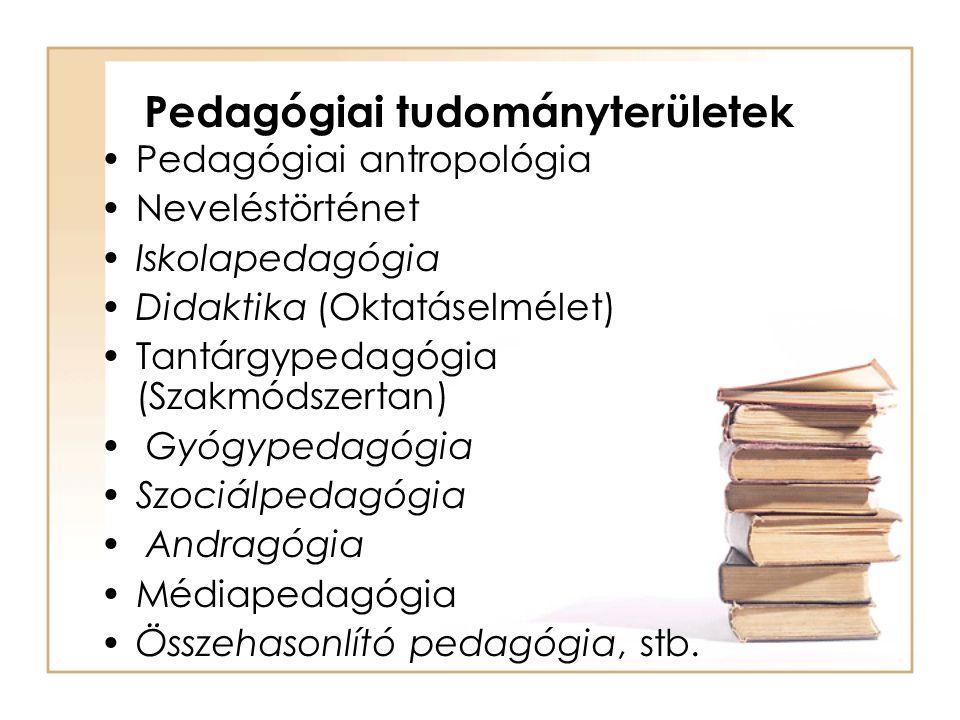 Pedagógiai tudományterületek