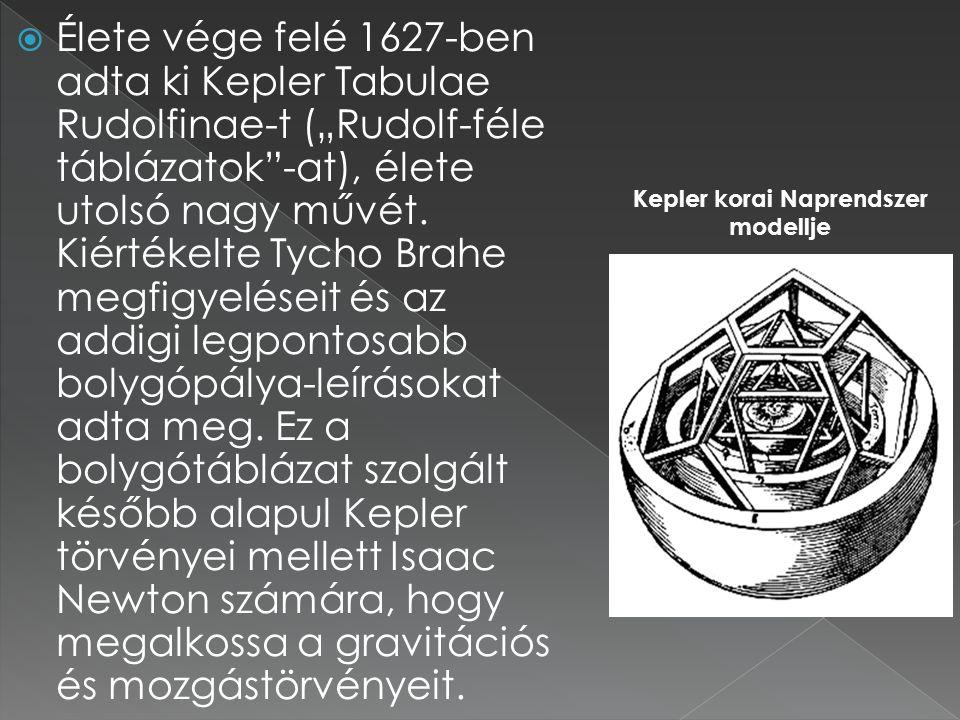Kepler korai Naprendszer modellje