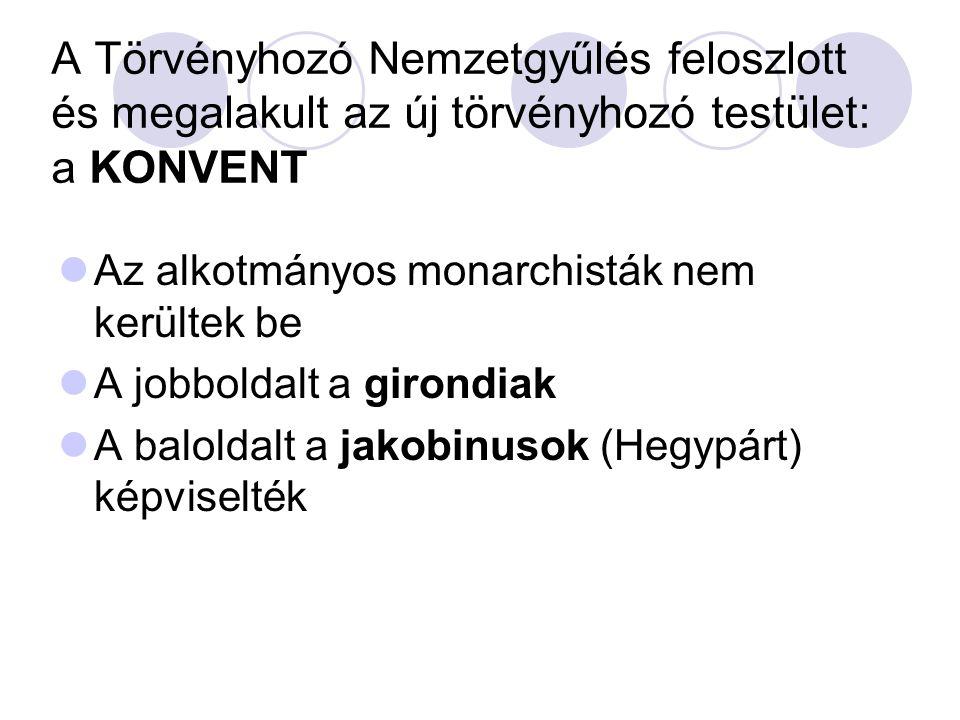 A Törvényhozó Nemzetgyűlés feloszlott és megalakult az új törvényhozó testület: a KONVENT