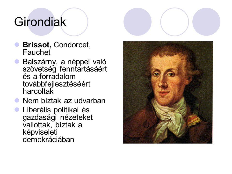 Girondiak Brissot, Condorcet, Fauchet
