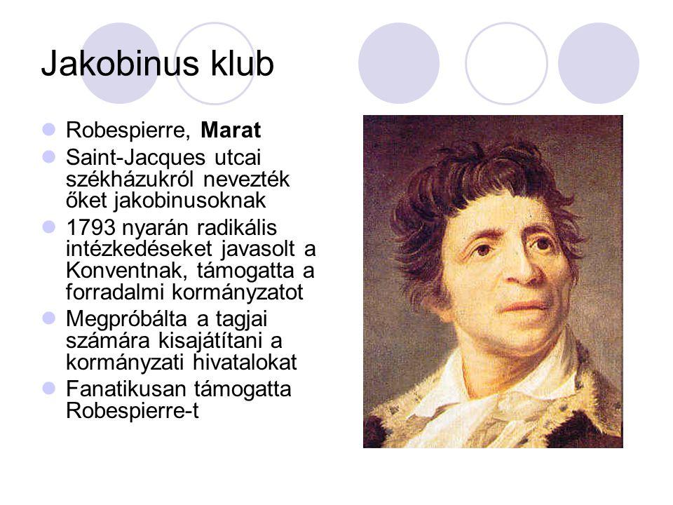 Jakobinus klub Robespierre, Marat