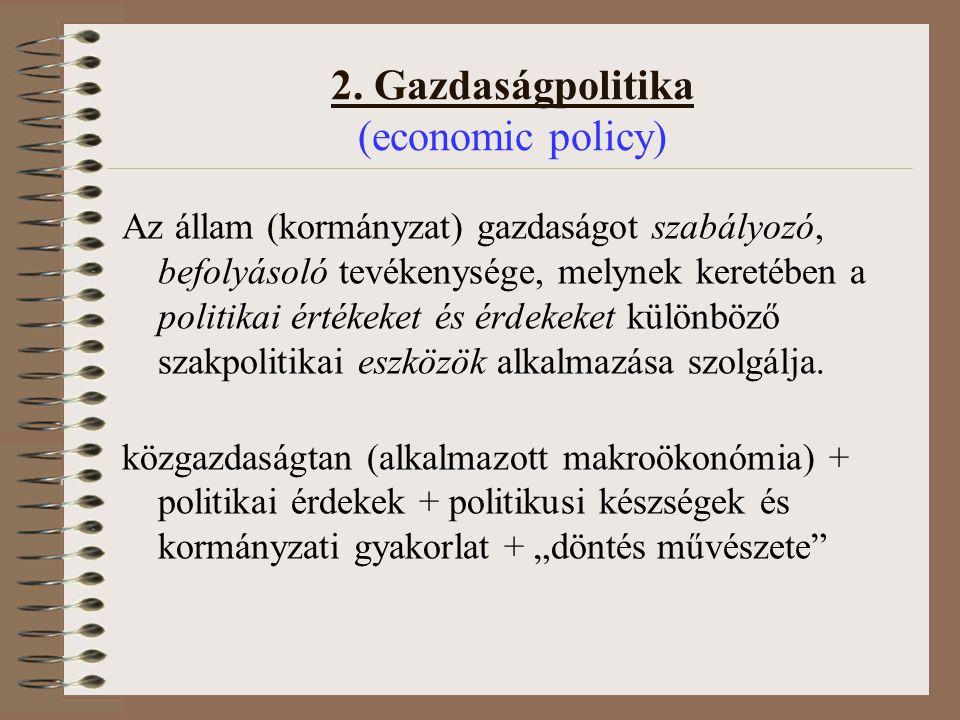 2. Gazdaságpolitika (economic policy)