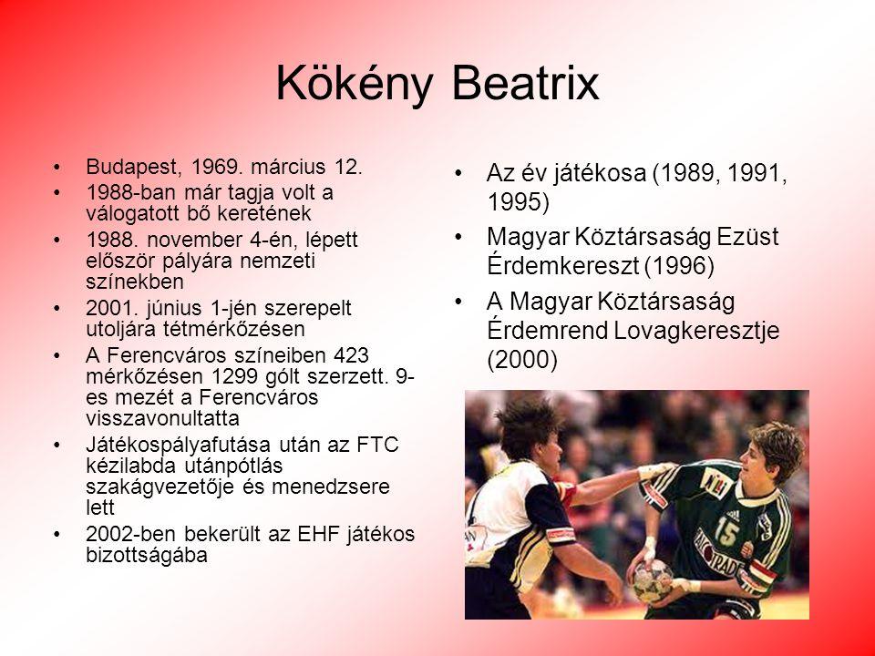 Kökény Beatrix Az év játékosa (1989, 1991, 1995)