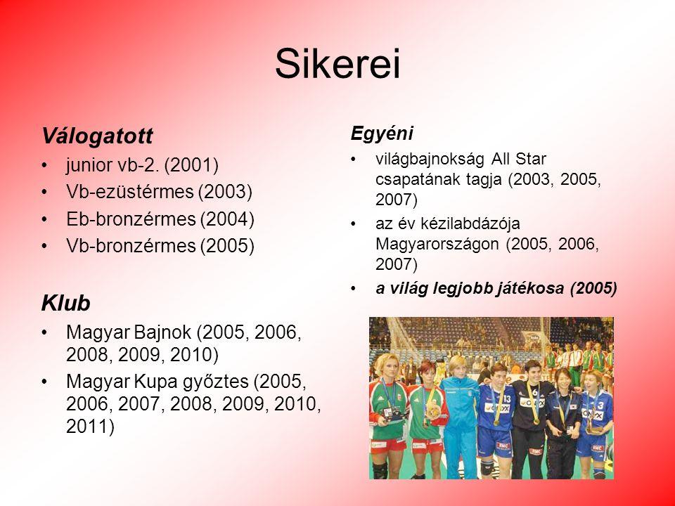 Sikerei Válogatott Klub Egyéni junior vb-2. (2001)