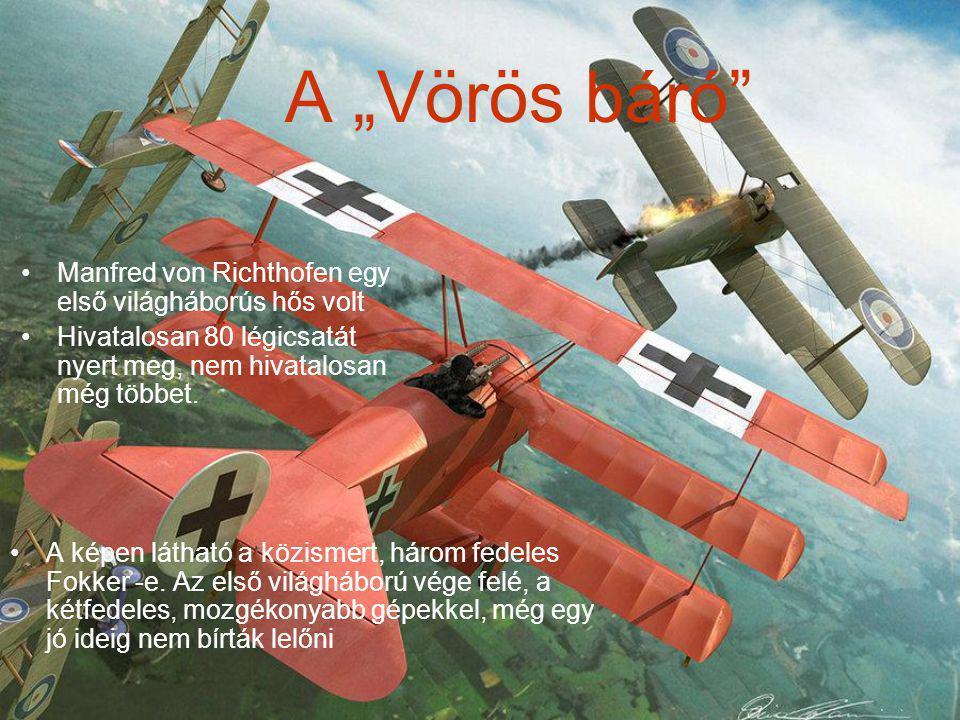 """A """"Vörös báró Manfred von Richthofen egy első világháborús hős volt"""