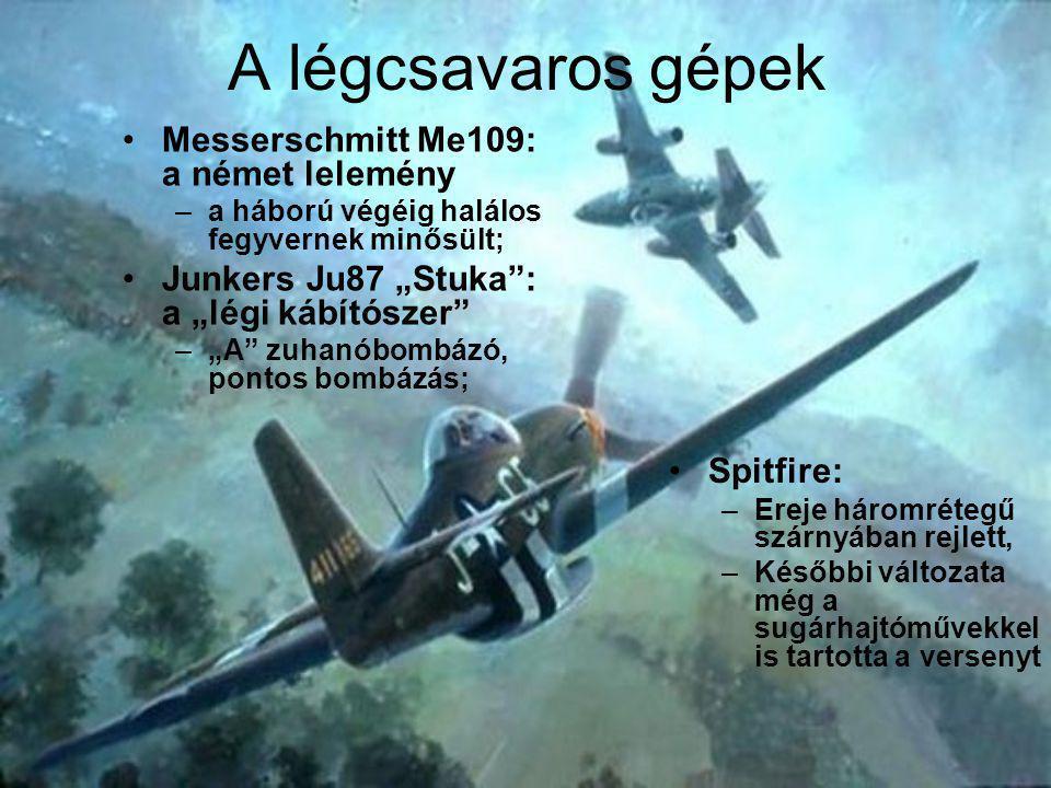 A légcsavaros gépek Messerschmitt Me109: a német lelemény