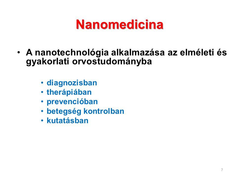 Nanomedicina A nanotechnológia alkalmazása az elméleti és gyakorlati orvostudományba. diagnozisban.