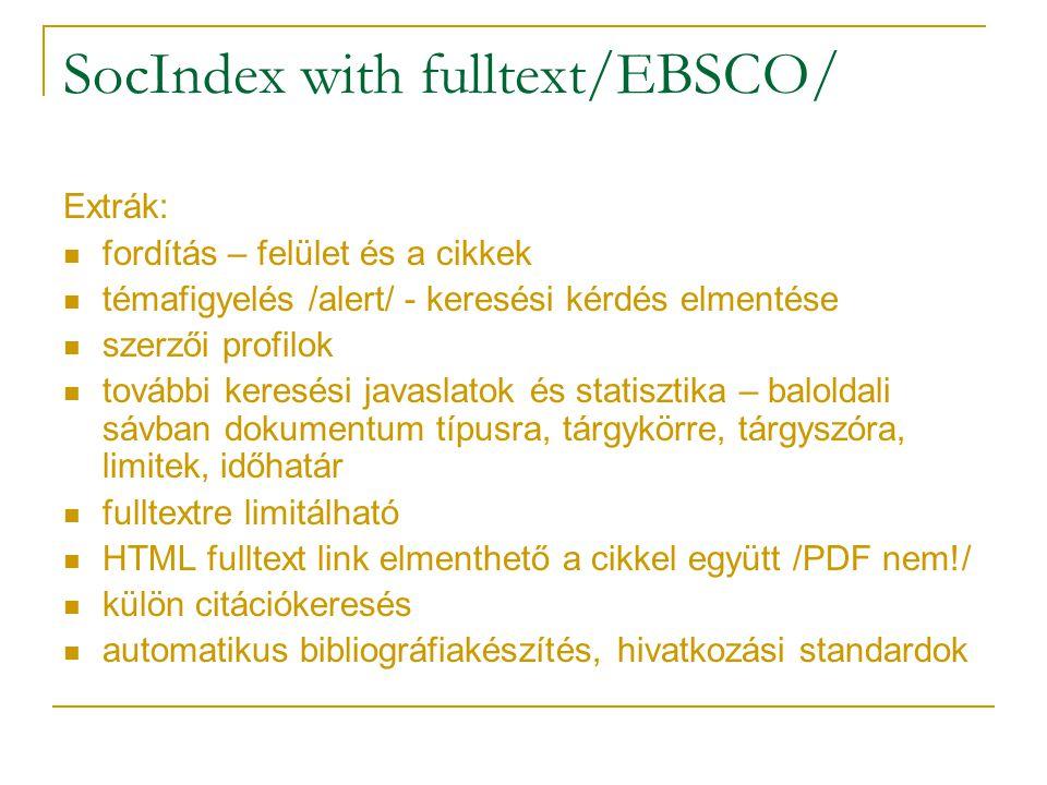 SocIndex with fulltext/EBSCO/