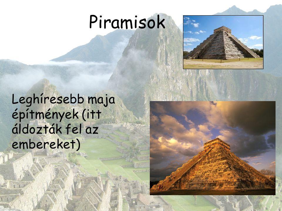 Piramisok Leghíresebb maja építmények (itt áldozták fel az embereket)