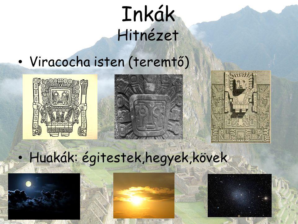 Inkák Hitnézet Viracocha isten (teremtő)