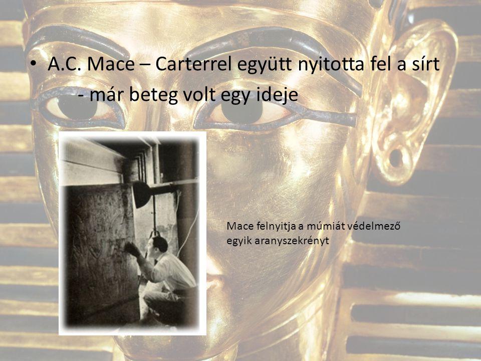A.C. Mace – Carterrel együtt nyitotta fel a sírt